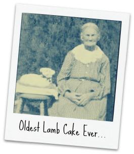 lamb cake old lady