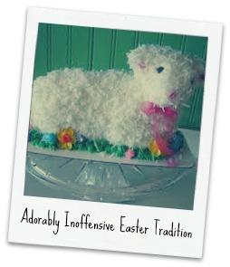 red velvet lamb cake 1